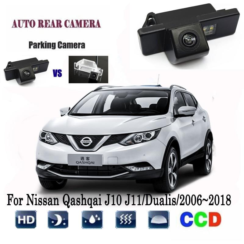 Rear View Camera For Nissan Qashqai J10 J11/Dualis/2006~2018 Night Vision CCD Reversing Camera License Plate Camera Backup