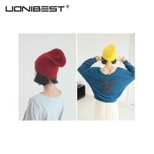 UONIBEST Korean Version 2016 New Arrival GD Winter Metrosexual Harajuku Hip Hop Hat Head Knitted Cap Fluorescence VX0005