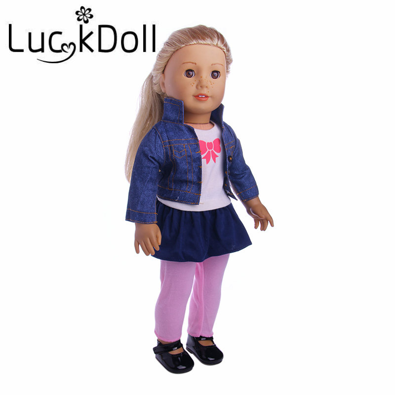 Luckdoll Streetwear Style Casual Suit for 43 cm Baby Born Doll or 18 inch American Girl Doll Accessories