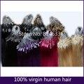 100% бразильского виргинские реми волос фиолетовый или пользовательский цвет шелковистая прямая бусины микро-цикла кольцо волос