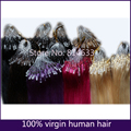 100% Brazilian Virgin Remy Hair Purple or Custom Color Silky Straight Micro Bead Loop Ring Hair Extensions