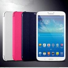 2017 Nueva PU Funda de piel cubierta Del Soporte para Samsung GALAXY Tab 3 8.0 T310 T311 T315 ultra delgado para SM-T310 tablet al por menor + Stylus