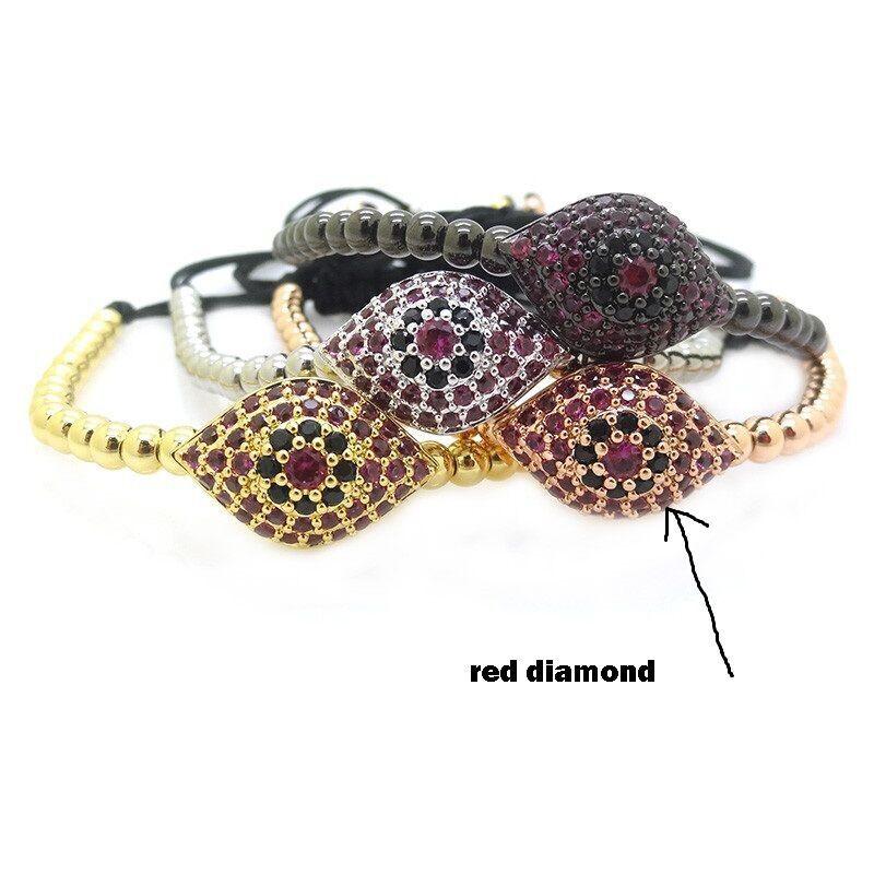 Anil-Arjandas-Fashion-Men-Black-Bracelet-Pave-Setting-Black-CZ-Evil-Eye-4mm-Round-Bead-Braiding