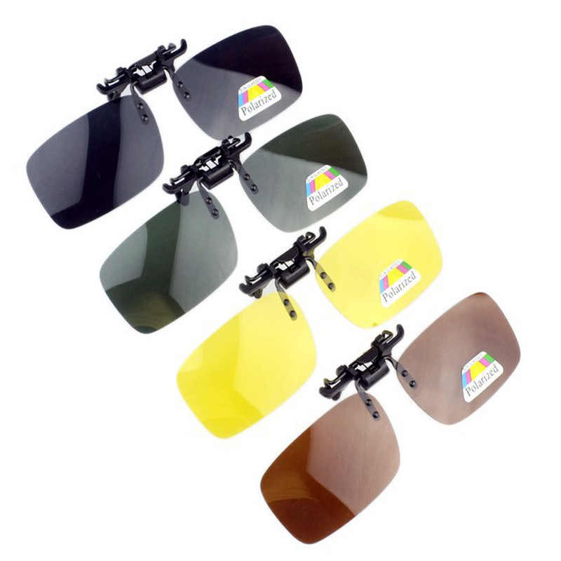 ecff5b1f28 Mens Polarized Clip on Fishing Glasses Sports Traveling Driving Glass Night  Vision Easy Flip Up Sun
