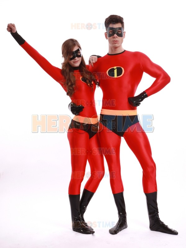 The Mr Incredible Costume Male Spandex Cosplay Costume Women Superhero Costume Custom Made Available with eyes Mask