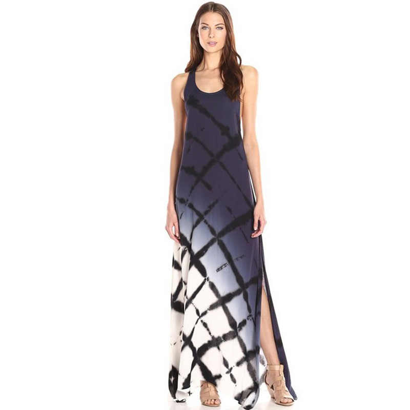e32d5bf8e71 2018 New Women Long Maxi Boho Sleeveless Tunic Summer Sexy Tank Dress  Holiday Beach Dress Vestidos