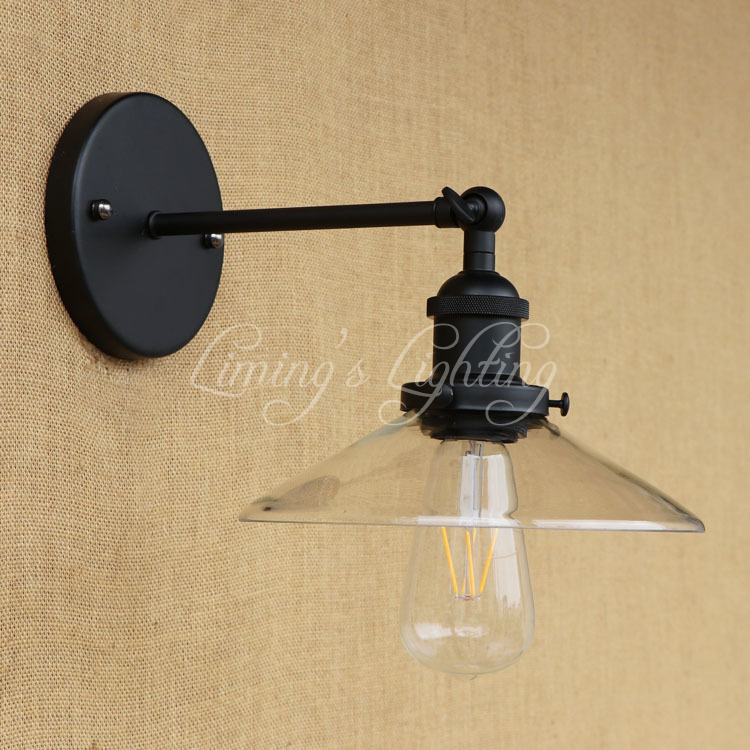 Retro Loft Style Edison Wall Sconce Iron Glass Vintage Wall Light Fixtures Antique Industrial Wall Lamp Home Lighting Lamparas american loft style industrial antique wall light fixtures creative arm wall lamp simple adjustable angle wall sconce lamparas