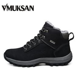 VMUKSAN Производитель зимние ботинки мужские размер 39-46 обувь мужская зимняя теплый удобный зимняя мужская обувь мода кеды ботинки мужские зим...