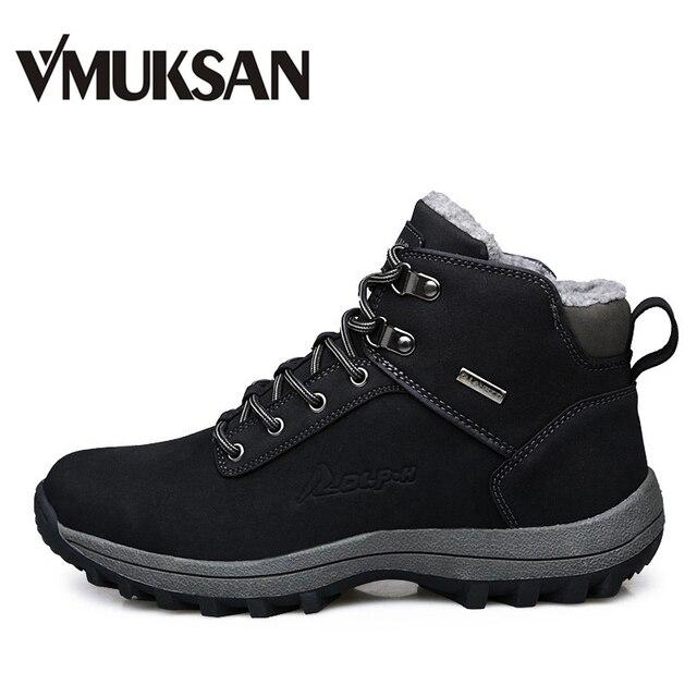 VMUKSAN Brand Men Boots Big Size 39-46 Men Winter Boots Warm Plush Snow Boots Mens Fashion Sneakers Winter Shoes Man