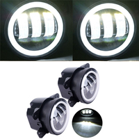 30W 4 Inch Round Led Fog Light Headlight Projector Lens With Halo DRL Lamp For Offroad