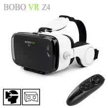 2016 BOBOVR Z4 (4.0 Version) Google cardboard VR BOX with Headphone VR Virtual Reality 3D Glasses For 4.7 – 6.2 inch Smartphone