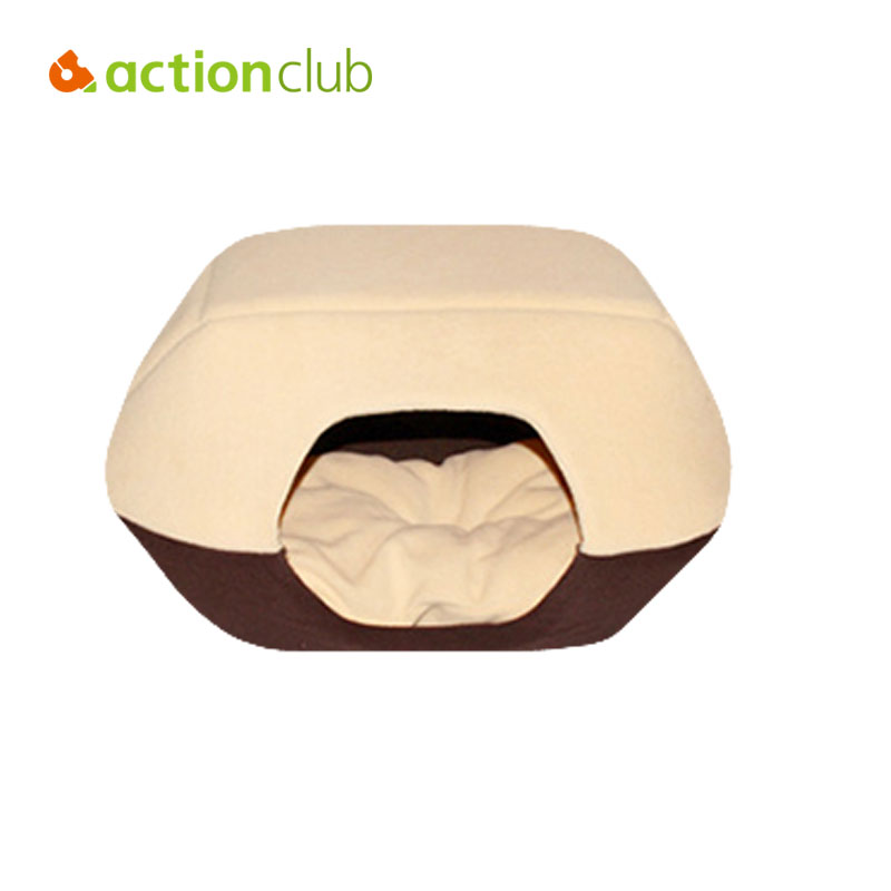 ACTIONCLUB Removable Cover Pet Bed Sofa Folded Yurts Red Coffee L XL  Breathable Small Medium Dogs