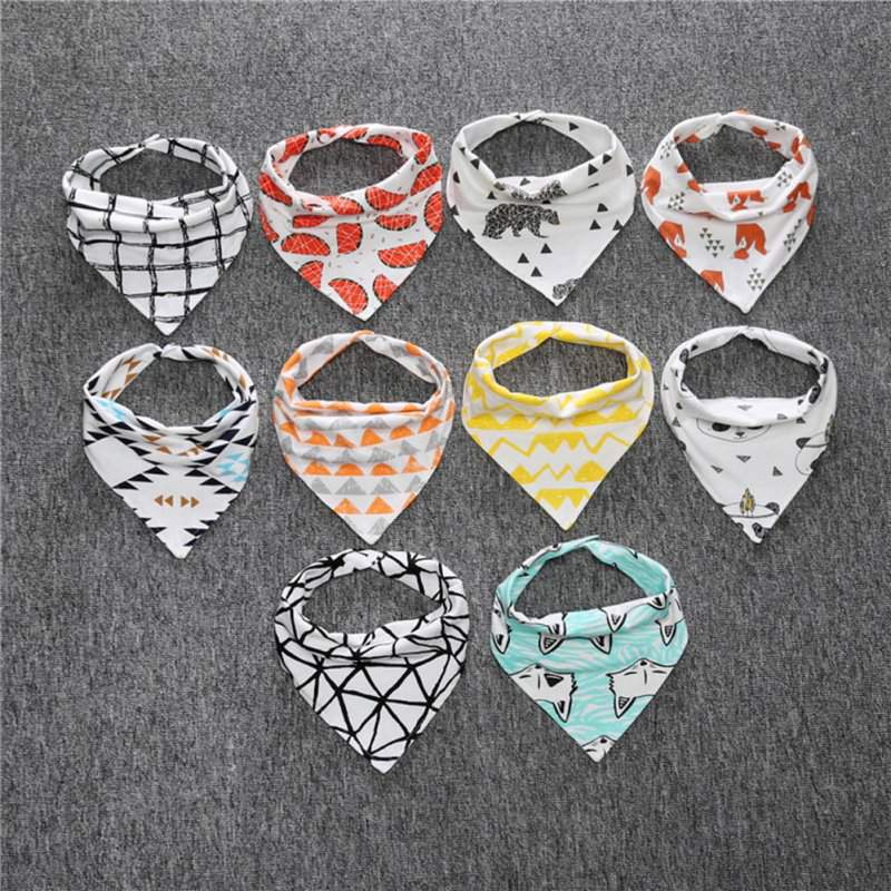 Brand new 1 pcs double layers cute baby bibs babero baby bandana bibs burp cloths newborn