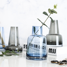 Europe Glass Vase Lighthouse Gray/blue terrarium glass containers Small flower vases wedding home decoration Bottle Flowerpot