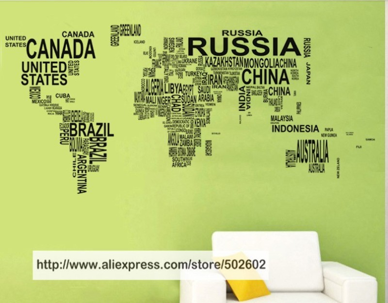 Large world map in words wall art sticker vinyl graphics decals large world map in words wall art sticker vinyl graphics decals home room decor in blinds shades shutters from home garden on aliexpress alibaba gumiabroncs Choice Image