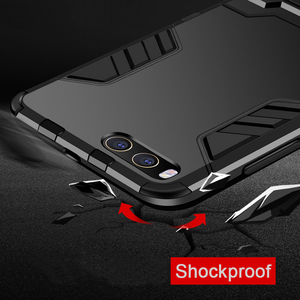 Image 3 - CAPSSICUM Mi6 Armor Case for XIAOMI MI6 PC+Silicone Hard Antiknock Shockproof Kickstand Back Cover Shell Stand High Quality
