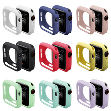 for apple watch series 5 4 3 2 case for iwatch candy color TPU soft cover slim fit protector Ultra-thin band 38mm 40mm 42mm 44mm ashei watch cover for apple watch 3 case 42mm 38mm series 3 2 1 soft slim tpu all around ultra thin screen protector for iwatch