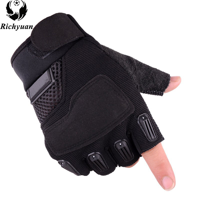 New Style Army Tactical Gloves For Men Sports Mittens Half Finger Bicycle Fitness Gloves Military Women Gloves