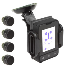 Tire Pressure Monitoring Tire Pressure Monitor System Support Spare Tire Monitoring with 4 Sensors