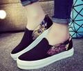 Новых Женщин Квартиры Обувь 2017 Повседневная Холст Эспадрильи Обувь Платформы Обувь Мокасины Женщин