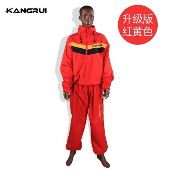 KANGRUI Man Woman Unisex Fitness Loss Weight Sauna Suit Set Slimmer Slim Exercise Workout Sweat Sauna Suit 3
