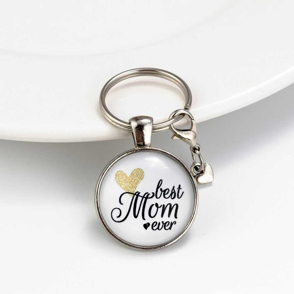 May mắn Mắt Thủy Tinh Letters Tim Keychain Mẹ Anh Trai Em Gái Mặt Dây Chuyền Keychain Cho Phụ Nữ Cô Gái Cậu Bé Xe Keychain Đồ Trang Sức EY6141
