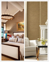 big sale sisal grasscloth textured natural fabric wallpaper for living room home decoration