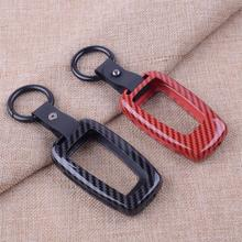 Car Carbon Fiber Style Zinc Alloy Remote Control Cover Smart Key Case Cover Holder Set Protector Fit For Toyota Camry 2018 2019 soft tpu car key case cover keychain for toyota avalon 8 camry 2019 levin ioza chr