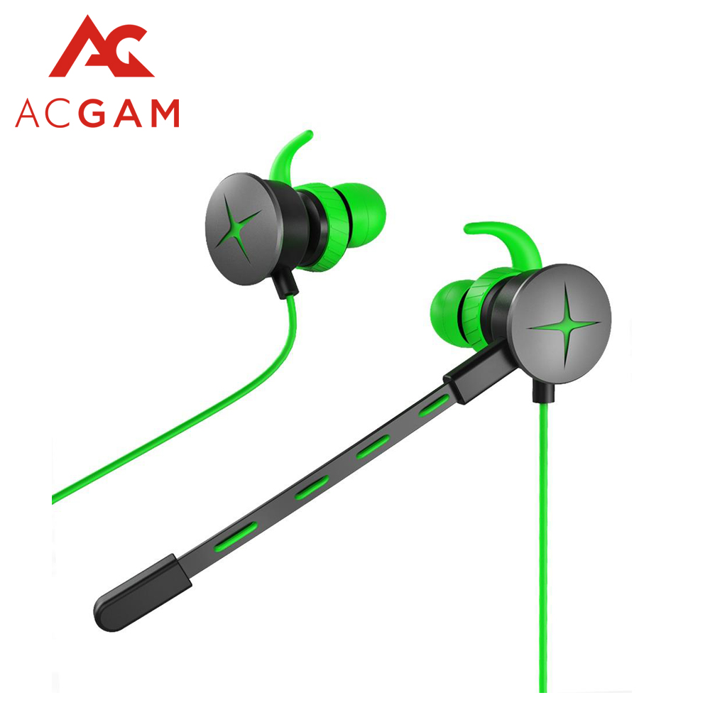 Acgam Gaming Kopfhrer Fr Razer Hammerhead V2 Pro Mit Mic 35mm Y In Ear Splitter Mikrofon Ohr Mobile Telefon