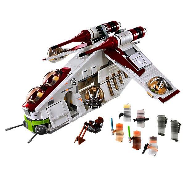 LEPIN 05041 1224pcs Star Plan Series The Republic Gunship Model Building Block set Brick Educational Toy For children Gift 75021 набор плетение из фольги диадема 50041 05041