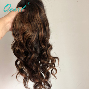 Image 5 - Full lace Wigs 1B/33#/30# Highlight Ombre Color Real Human Hair Wigs 180%/200% Thick Density Remy Brazilian Wavy Hair Wigs Qearl