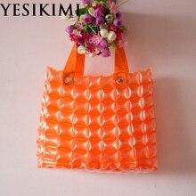 YESIKIMI Новинка года Для женщин Водонепроницаемый сумка надувной кошелек желейного леденцового цвета 37 см Размеры пляжные сумки Высокое качество сумка ПВХ