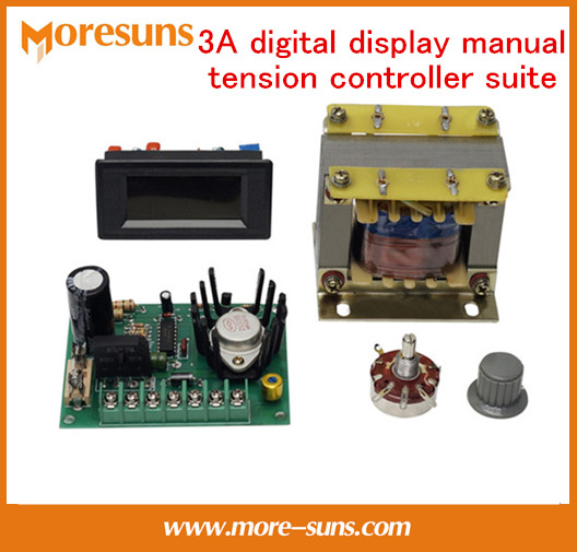 Free Ship 3A digital display manual tension controller suite for 3A Composite cutting machine magnetic powder clutch skiddometer