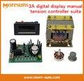 Navio livre 3A controlador de display digital de tensão manual suite para 3A máquina de corte Composto skiddometer embreagem magnética do pó