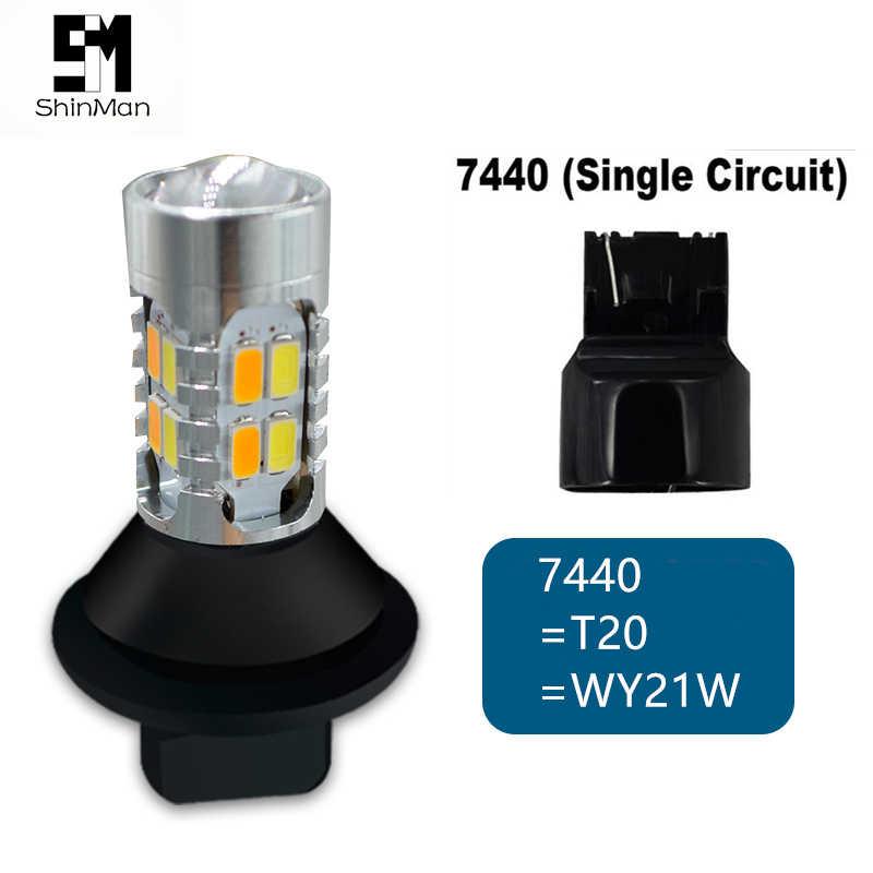 Shinman led DRL дневные ходовые огни и Передние поворотники все в одном WY21W 7440 T20 авто светодиодные лампы для toyota alphard ANH20 2009