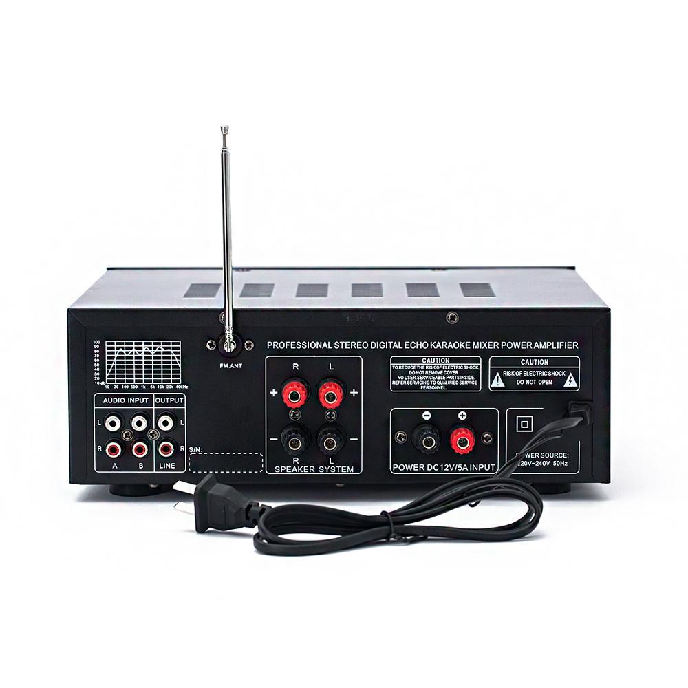 110V 220V 12V 2.1 canal 200W haute puissance Bluetooth FM USB MP3 karaoké amplificateur 10 segments égaliseur famille voiture amplificateur audio - 5