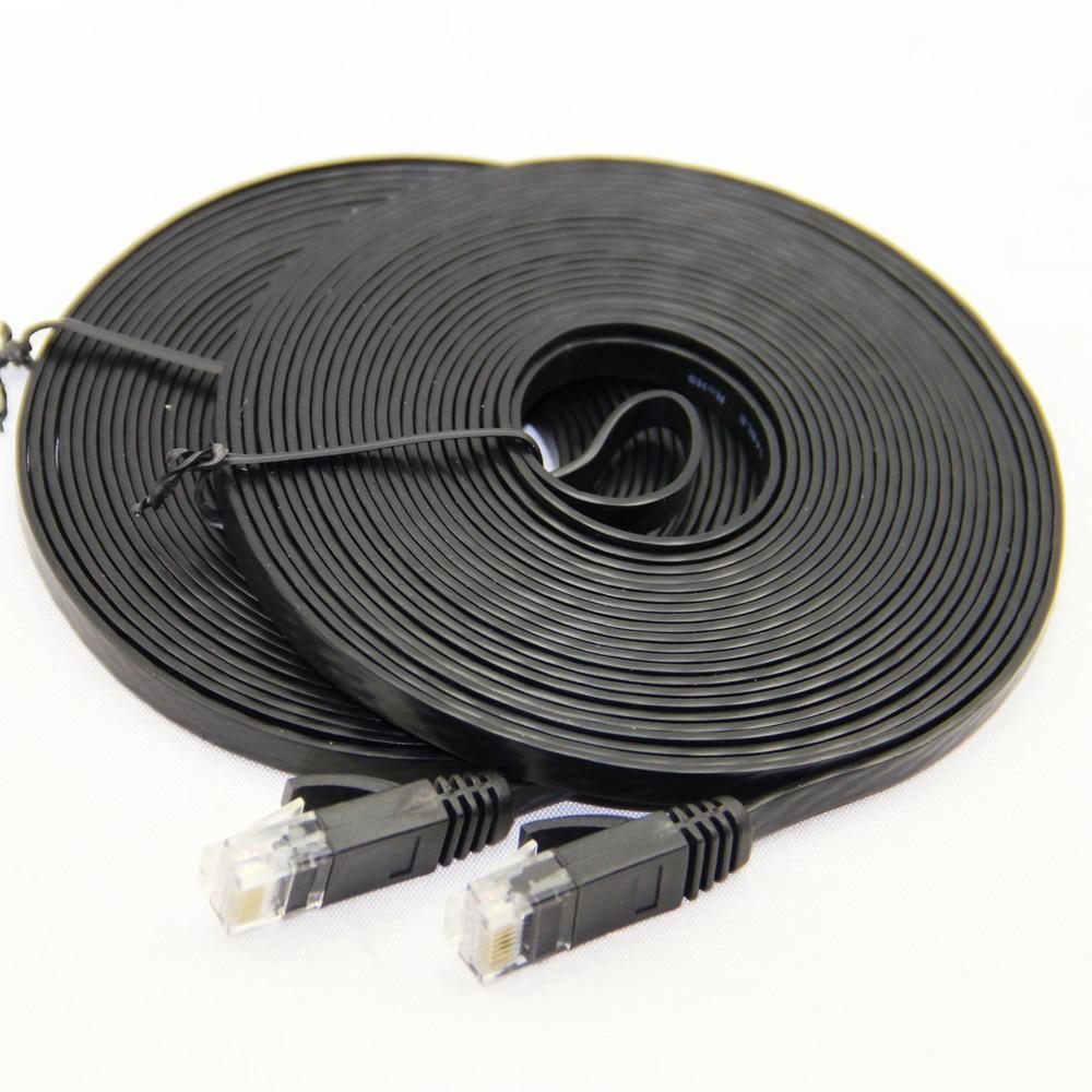 Piatto CAT-6 Rete RJ45 Ethernet Patch Cable Per Modem Router di Rete LAN RJ45 Connettore