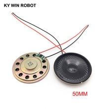 2pcs New Ultra-thin speaker 8 ohms 0.5 watt 0.5W 8R Diameter 50MM 5CM thickness 5MM with PH2.0 terminal wire length 10