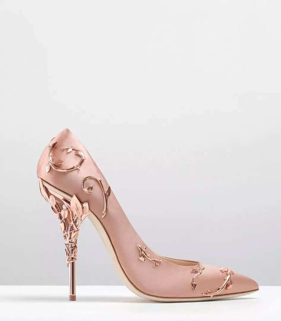 Новая Мода Стиль Острым Носом Сексуальные Женщины Туфли На Высоких Каблуках Роскошные Металл Пятки Серебро Цветок Винограда Моды Элегантн
