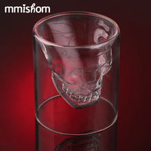 2017 Magic Transparent Glass Skull Mugs Coffee Cups Bilayer Bar Wine Beer Drinkware Gift Tea Cup 35off