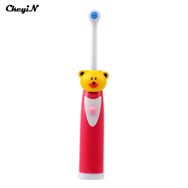 Waterproof Electric Rotating N Vibrating Toothbrush with Soft Bristle for Baby's Oral Hygiene