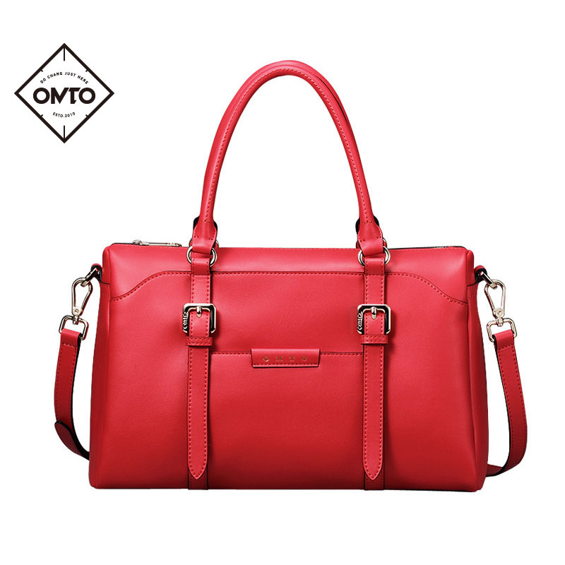 OMTO Top-handle Bags Fashion Women Handbags Split Leather Brand Messenger Bags Shoulder Bags Ladies Large Capacity Bolsos 2017 fashion all match retro split leather women bag top grade small shoulder bags multilayer mini chain women messenger bags