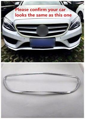 Chrome Calandre Grille Cadre Cover Version 1 pcs Pour Benz Classe C W205 Berline 14-18