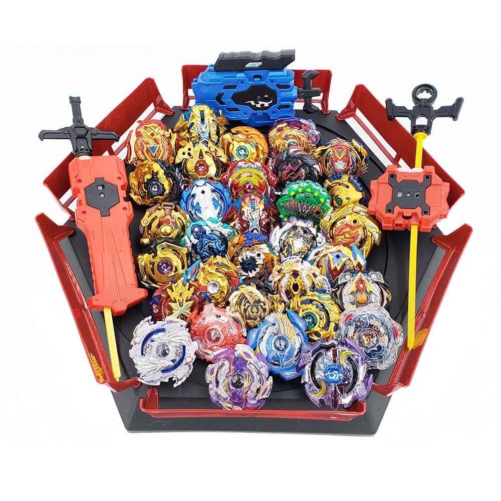 28 estilo Beyblades de Metal conjunto tapa de caja explosión Bey Blade lanzador Beyblade juguetes para niños niño