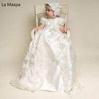 Новые детские Европа сто дней один год старый День рождения маленький ребенок Длинные Кружева из двух частей Одежда фотография для девочек