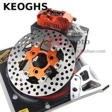 Buy online KEOGHS Motorcycle Front Hydraulic Disc Brake Set 200-220mm Disc Rpm Cnc 4 Piston Caliper With Cnc For Fast Front Shock Absorber