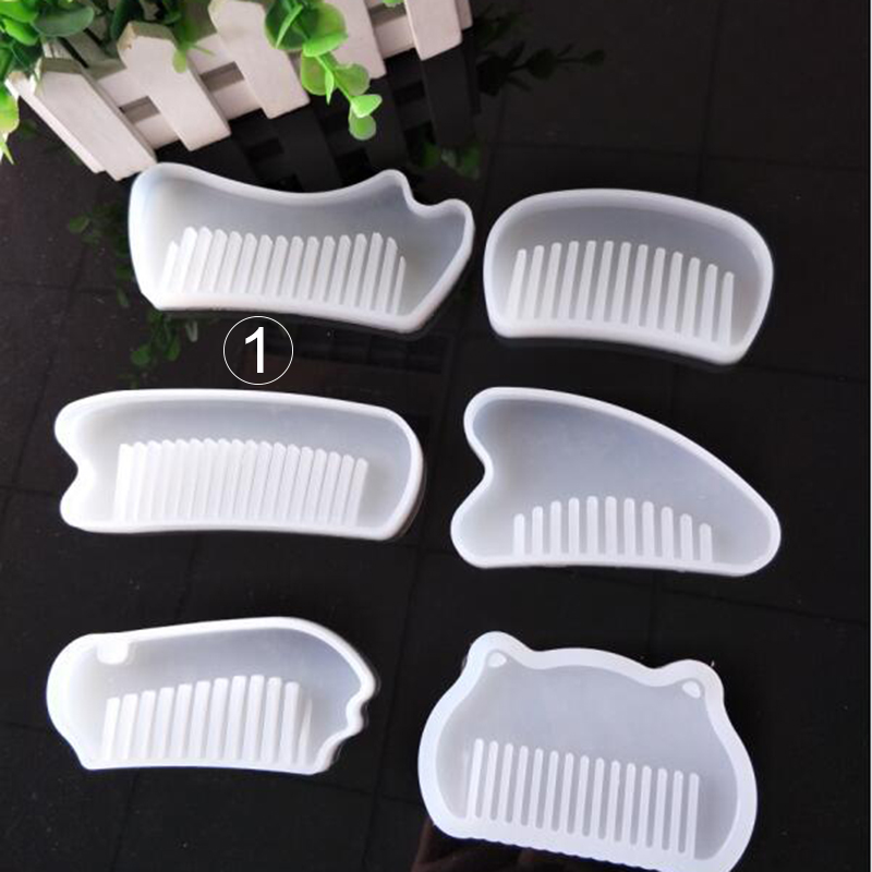 Comb resin silicone mould plastic comb making Handmade uv Resin Mould 1pcs