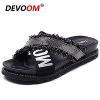 Fashion Black Teenslippers Bling Women Sandales Femme 2019 Flip Flop Women Indoor Slippers Dames Home Shoes Women Shoes Sandals