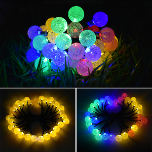 Image 2 - 30 LED Solar String Lights Outdoor Crystal Ball Lighting for Christmas Trees, Garden, Patio, Wedding and Holiday Decorations