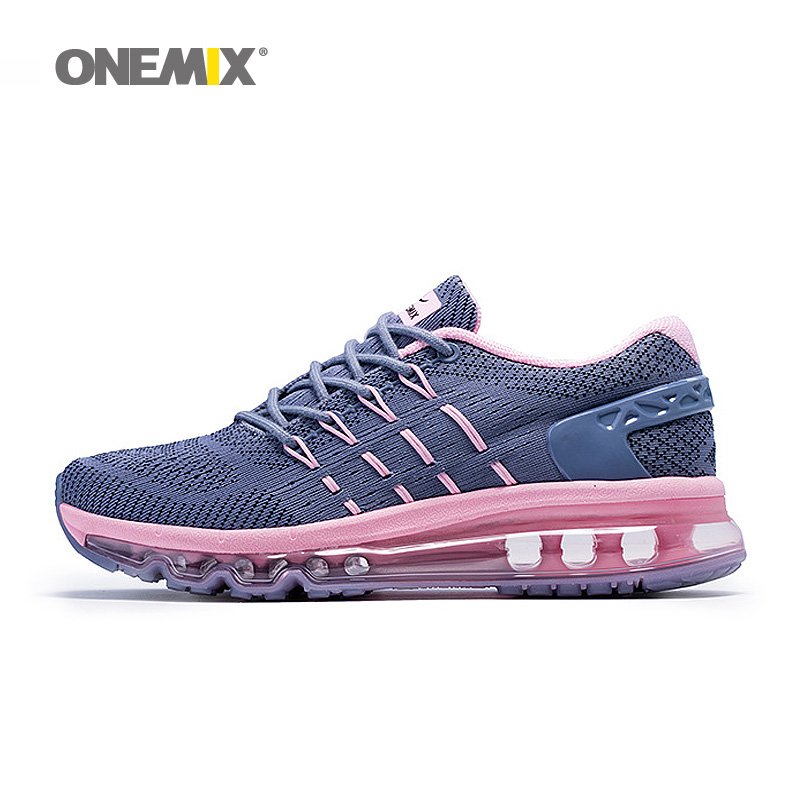 купить 2017 Onemix men&women breathable Running Shoes aie cushion Sneakers outdoor walking shoes недорого
